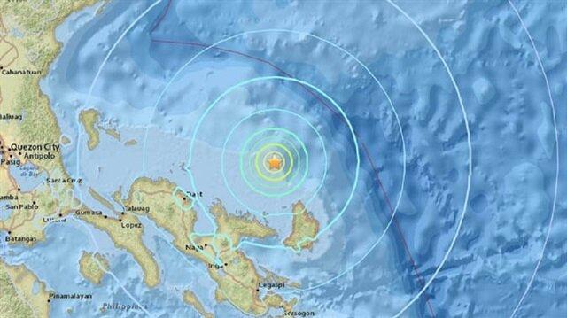 Filipin açıkları 6.4 büyüklüğündeki depremle sarsıldı.