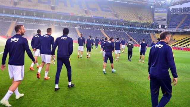 Siyah-beyazlılar maça çıkmayınca Fenerbahçe statta idman yapmıştı.