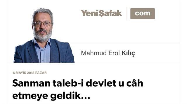 Sanman taleb-i devlet u câh etmeye geldik…