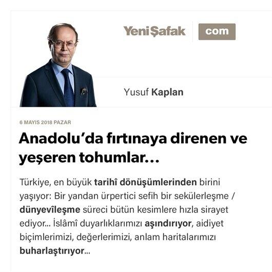 Anadolu'da fırtınaya direnen ve yeşeren tohumlar...