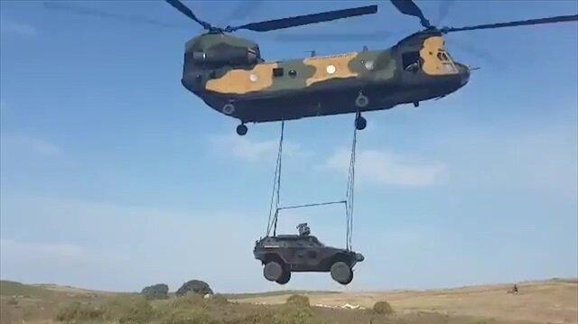 Cobra araçlarının nakliyesi nefes kesti