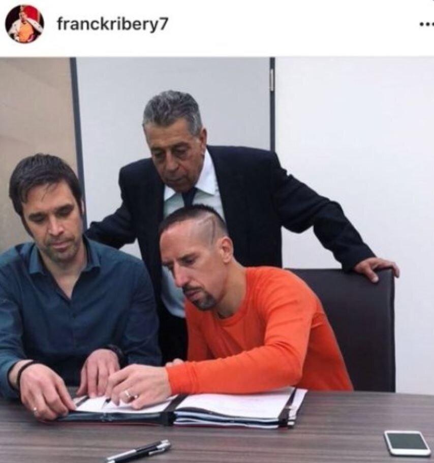 Ribery, bu fotoğrafı paylaşıp kısa süre sonra sildi.