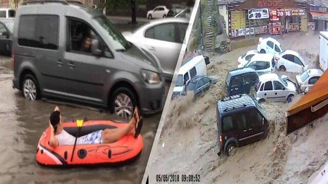 Mamak'taki sel felaketinde yeni görüntüler ortaya çıktı