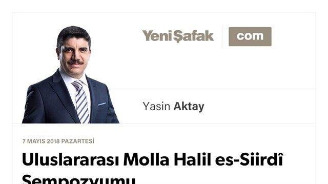 Uluslararası Molla Halil es-Siirdî Sempozyumu