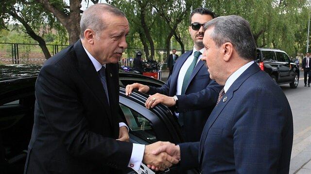 """أردوغان يزور حزب الوحدة الكبرى التركي الداعم """"لتحالف الشعب"""""""
