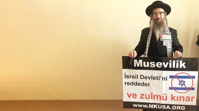 Neturei Karta grubu sözcüsü Yahudi Haham Weiss
