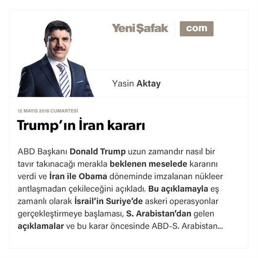 Trump'ın İran kararı