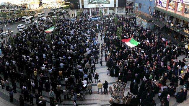 Batman'da STK'lardan Kudüs protestosu