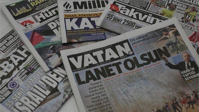   بالسواد.. اتشحت الصحف التركية تضامنا مع الفلسطينيين