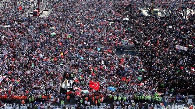 Yenikapı'da yüz binler 'Zulme Karşı Yürüyüş' için toplanacak