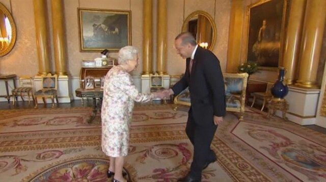 Cumhurbaşkanı Erdoğan Kraliçe ile görüştü