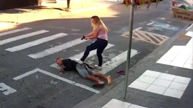 Kahraman kadın, silahlı gaspçıyı böyle etkisiz hale getirdi