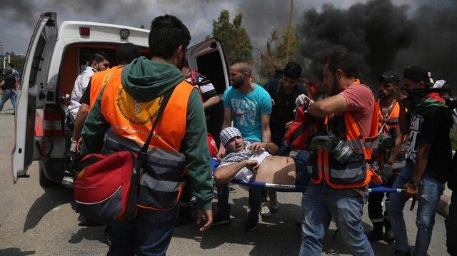 İşgalci İsrail'in saldırılarında binlerce Filistinli yaralandı.