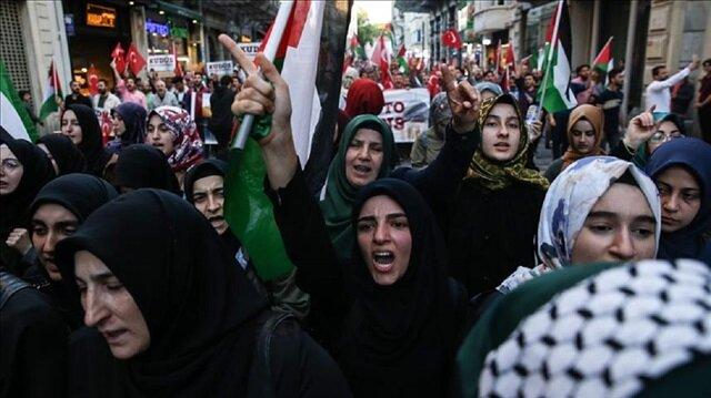 آلاف الأتراك ينتفضون في إسطنبول وباطمان ضد نقل السفارة الأمريكية للقدس