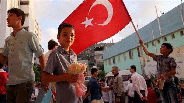 مساعدات تركية لسكان غزة بمليون دولار خلال رمضان
