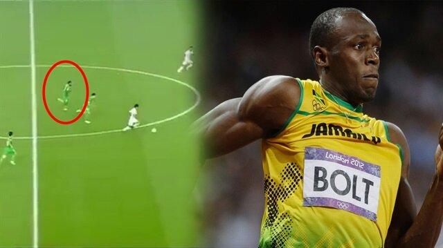 Eski Bursasporlu futbolcudan Usain Bolt'u kıskandıran depar