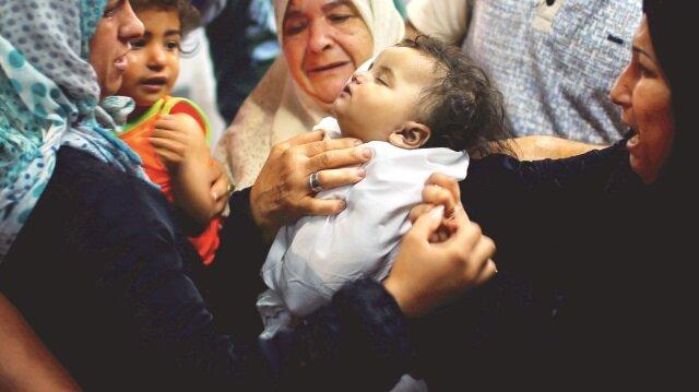 İsrail 8 aylık bebeği de katletti.