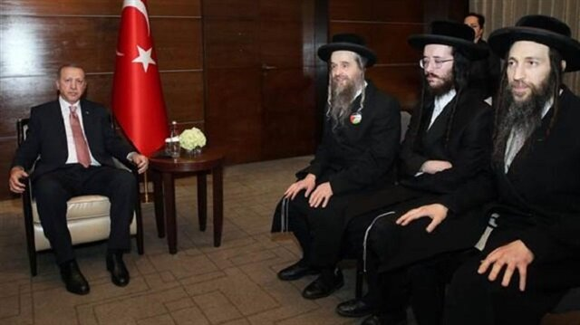 Erdoğan ziyaretinde dikkat çeken rozet