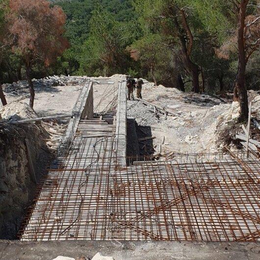 Afrin'de inşası yarım kalmış terörist kampı bulundu
