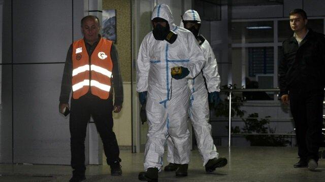 Patlama nedeniyle AFAD'dan ekipler inceleme yaptı.