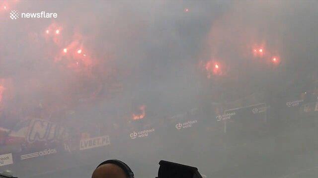 Kutlama yapmak isterken stadı yaktılar