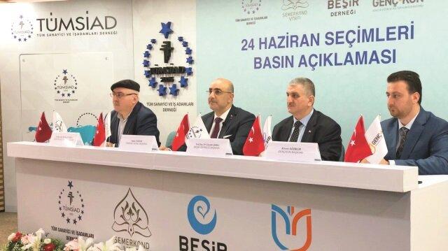TÜMSİAD'dan Cumhurbaşkanı Erdoğan ve Cumhur İttifakı'na destek