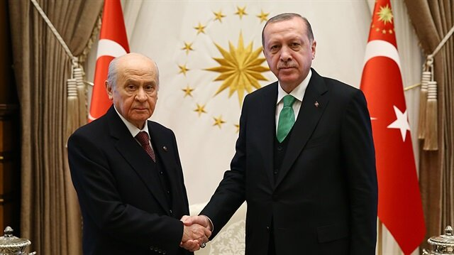 Cumhurbaşkanı Recep Tayyip Erdoğan ile MHP lideri Devlet Bahçeli