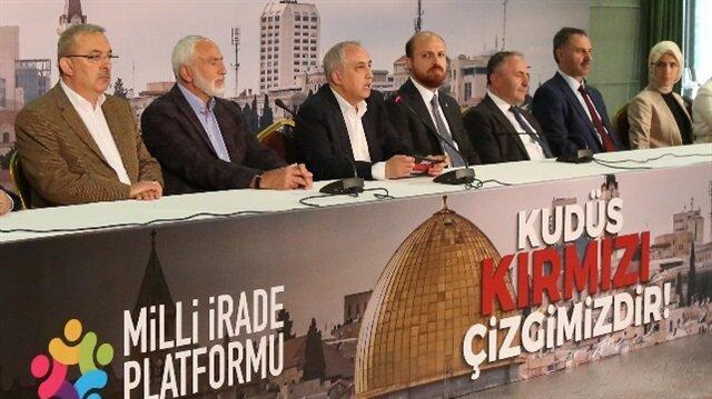 """Milli İrade Platformu, Kudüs """"Kudüs Kırmızı Çizgimizdir"""" başlığıyla toplantı düzenledi."""