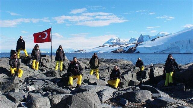 Antarktika'daki üs için çalışmalar devam ediyor.