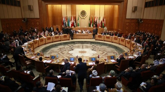 Arap Birliği'nin Mısır'ın başkenti Kahire'deki genel kurul salonu