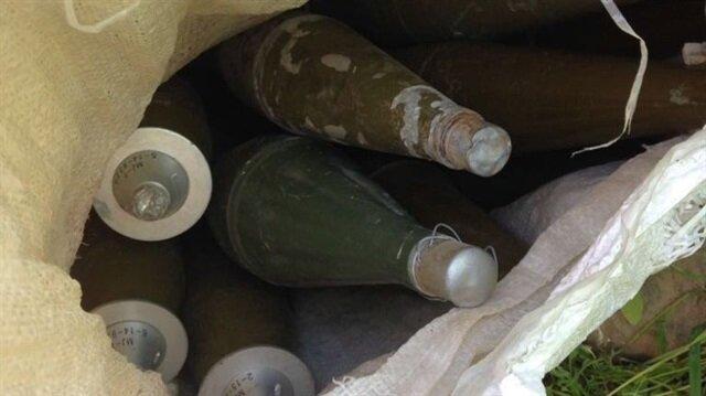 Şırnak'ta teröristlerin mühimmatı ele geçirildi