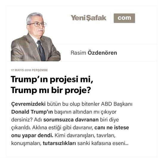 Trump'ın projesi mi, Trump mı bir proje?