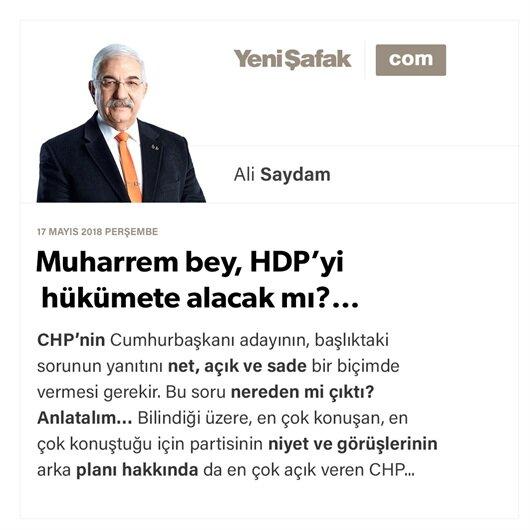 Muharrem bey, HDP'yi hükümete alacak mı?…