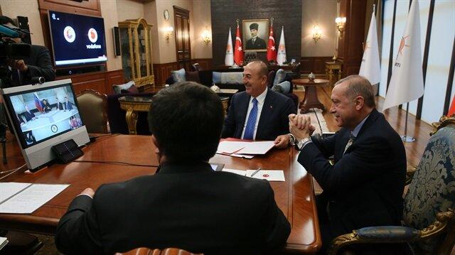 Cumhurbaşkanı Erdoğan ile Maduro arasındaki görüşmenin anları paylaşıldı