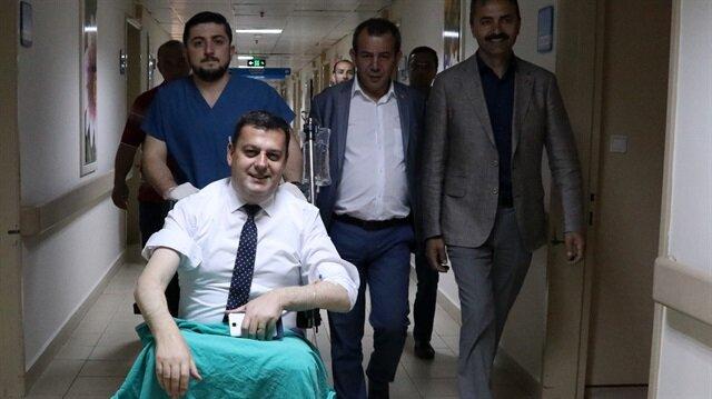CHP Edirne Milletvekili Okan Gaytancıoğlu ile CHP Kırklareli Milletvekili Vecdi Gündoğdu'nun içinde bulunduğu araç kaza yaptı