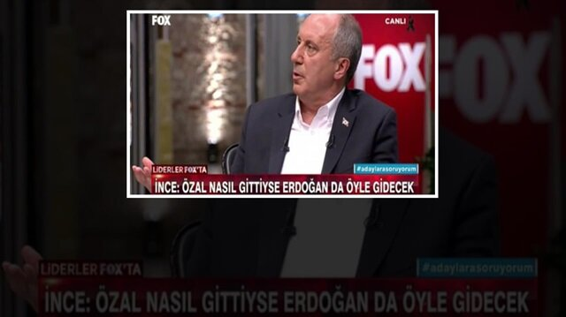 İnce'den Erdoğan için skandal Özal iması