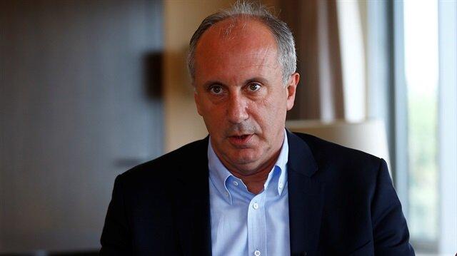 CHP'nin cumhurbaşkanı adayı Muharrem İnce.