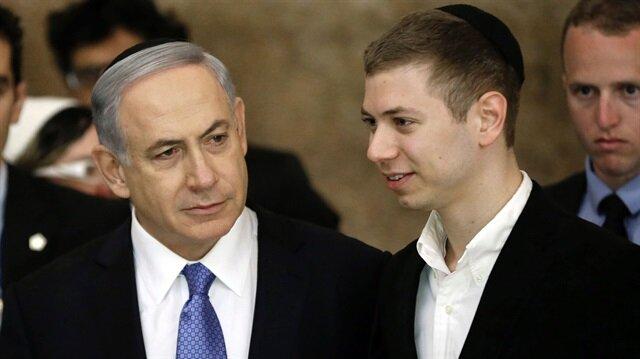 İsrail Başbakanı Binyamin Netanyahu ve oğlu Yair Netanyahu