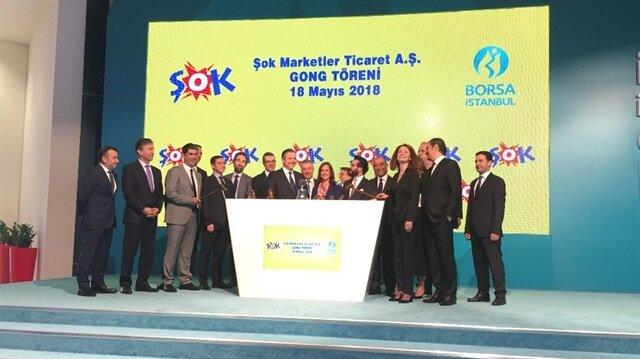 Şok Marketler, Yıldız Holding'in Ülker Bisküvi, Gözde Girişim, Makine Takım, Bizim Toptan, Kerevitaş ve Ufuk Yatırım'dan sonra Borsa İstanbul'da işlem gören 7'inci şirketi oldu.