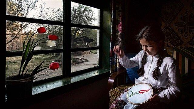 En güzel lale yarışmasında Ahmet Mücen 'Lale Nakış' fotoğrafıyla birinci oldu.