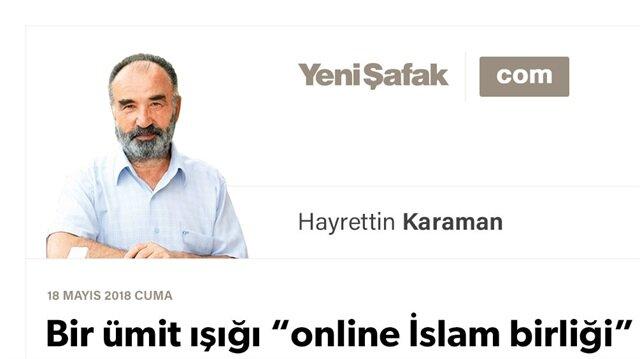 """Bir ümit ışığı """"online İslam birliği"""""""