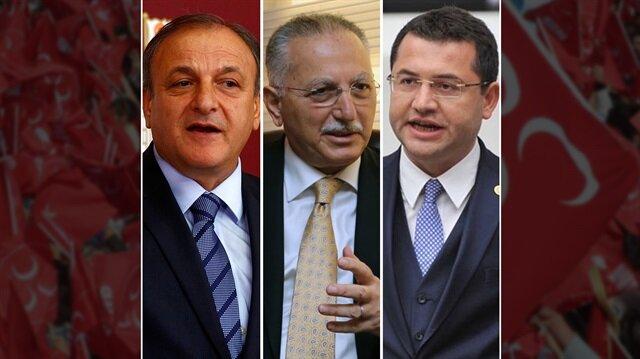 Oktay Vural, Ekmeleddin İhsanoğlu, Mehmet Parsak