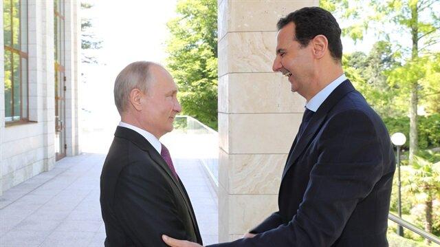 Rusya Devlet Başkanı Vladimir Putin ve Beşşar Esed Soçi'de görüştü.