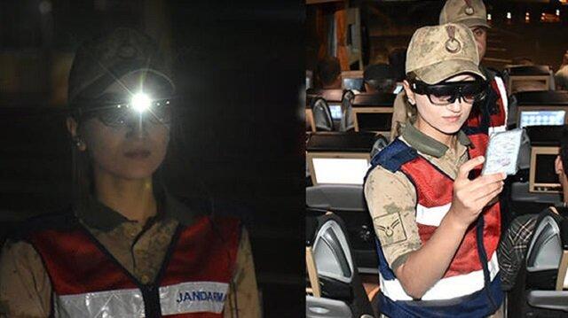 """Jandarma ekipleri, """"Tak-Bul Gözlüğü"""" sistemi sayesinde denetimlerini hızlandırdı"""
