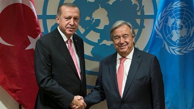 أردوغان يهاتف الأمين العام للأمم المتحدة