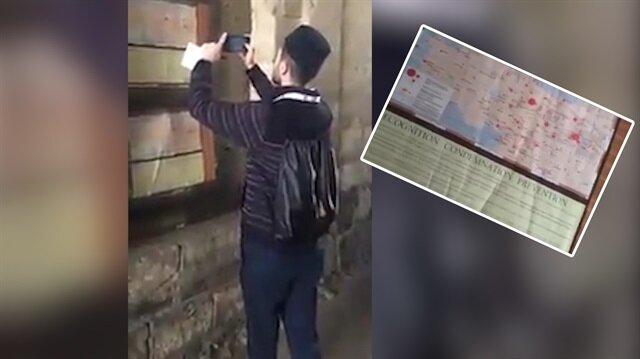 Kudüs sokaklarında skandal harita!