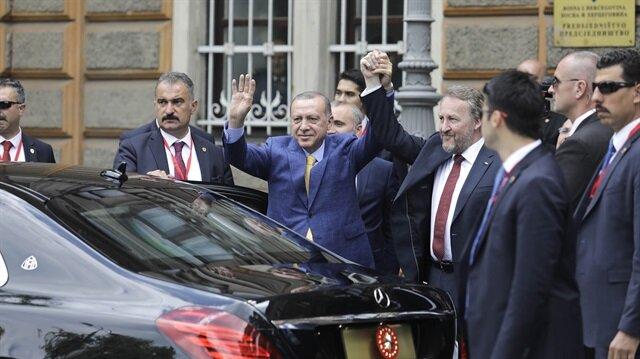 أردوغان يلتقي بيغوفيتش في سراييفو
