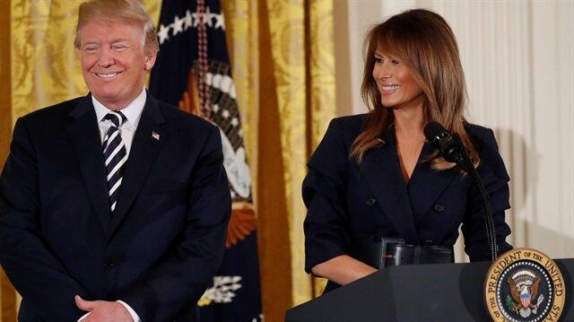 Trump eşinin ismini doğru yazamadı