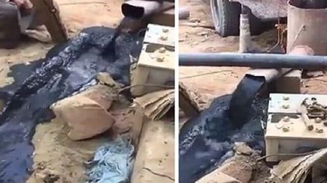 بالفيديو: مواطن يوثق خروج نفط من بئر مزرعته في حائل!
