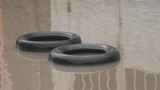 Sağanak yağış ve dolu Kütahya'da etkili oldu
